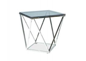 Журнальный стол Silver B 50х50 Дымчатый/Серебряный