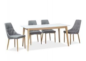 Стол обеденный Cesar 160(205)x80 Белый/Дуб
