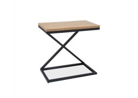 Журнальный стол Liz II 30х50 Дуб/Черный