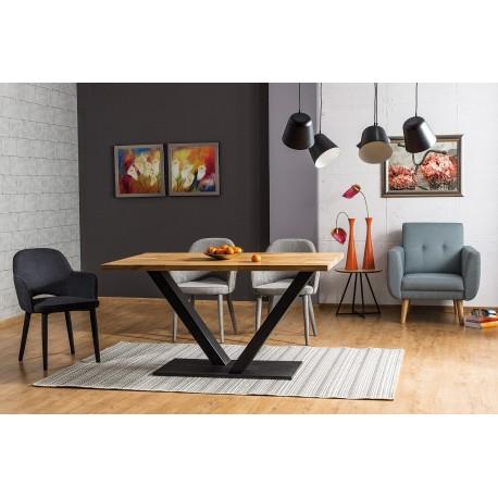 thumb Стол обеденный Vector 180х90 Масив Дуб/Черный 1