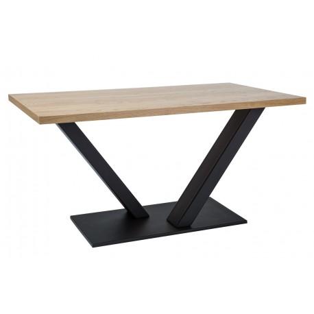 thumb Стол обеденный Vector 180х90 Масив Дуб/Черный 2