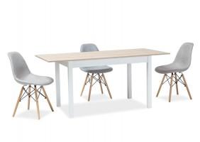 Стол обеденный Horacy 75x125 Дуб сонома/Белый