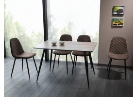 Стол обеденный Remus 120х80 Орех/Черный