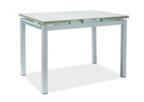 Стол обеденный Turin (110-170)х74 Белый эфект каменя/Белый