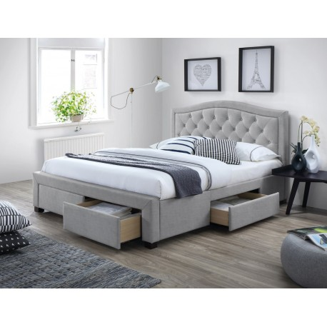 thumb Двуспальная кровать Electra 160X200 Серый 1