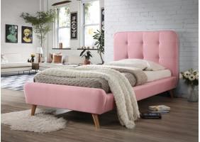Односпальная кровать Tiffany 90X200 Розовый