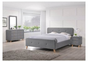 Двуспальная кровать Malmo 180х200 Серый