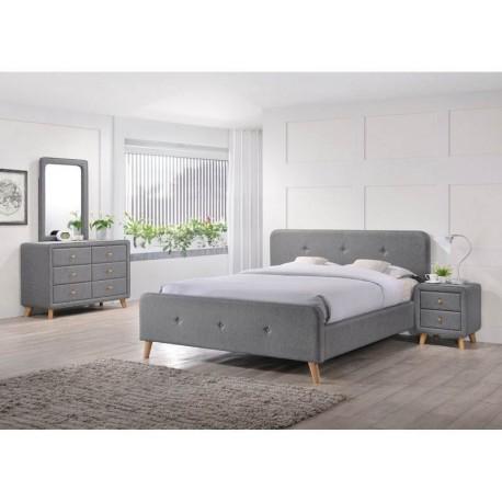 thumb Двуспальная кровать Malmo 180х200 Серый 1