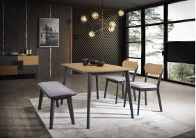 Стол обеденный Vitro 120х75 Дуб/Графит