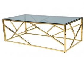 Журнальный стол Escada A 120х60 Дымчатый/Золотой