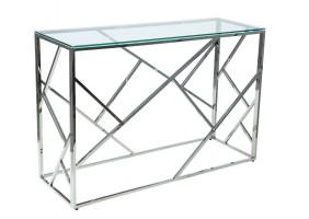 Журнальный стол Escada C 70х40 Прозрачный/Серебряный