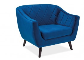Кресло Molly Velvet 1 Синий