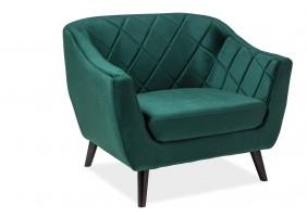 Кресло Molly Velvet 1 Зеленый