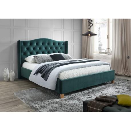 thumb Двуспальная кровать Aspen Velvet 160X200 Зеленый/Дуб 1
