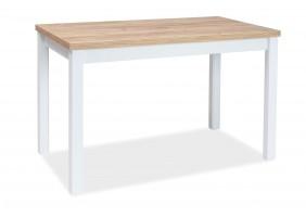 Стол обеденный Adam 68x120 Дуб Ланцелот/Белый