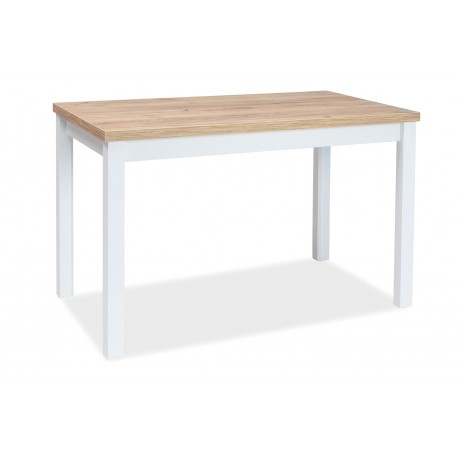 thumb Стол обеденный Adam 68x120 Дуб Ланцелот/Белый 1