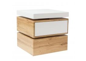 Журнальный стол Rita 50х50х50 Белый /Дуб