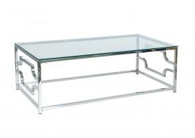Журнальный стол Versace A 120х60 Прозрачный/Серебряный