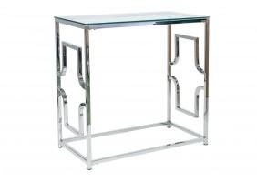 Журнальный стол Versace C 80х40 Прозрачный/Серебряный