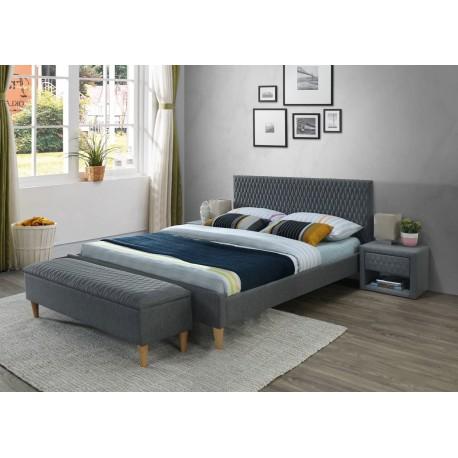 thumb Двуспальная кровать Azurro 140X200 Серый 1