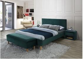Двуспальная кровать Azurro velvet 160X200 Зеленый
