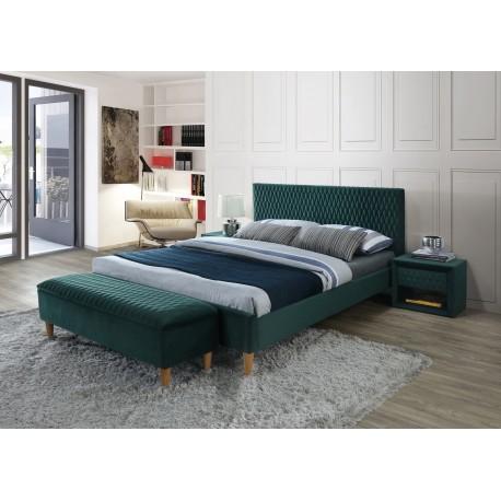 thumb Двуспальная кровать Azurro velvet 160X200 Зеленый 1