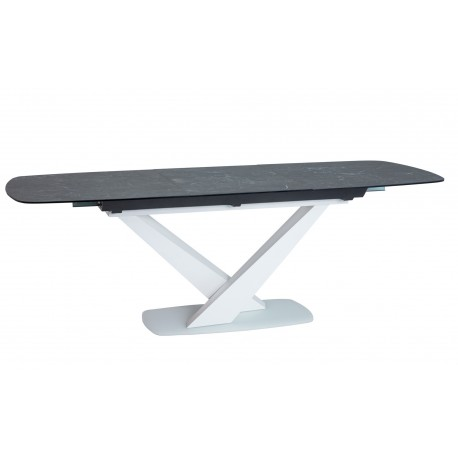 thumb Стол обеденный Cassino II Ceramic 90х160 Графит/Белый Мат 2