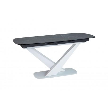 thumb Стол обеденный Cassino II Ceramic 90х160 Графит/Белый Мат 3