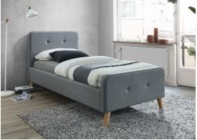 Односпальная кровать Malmo 90X200 Серый