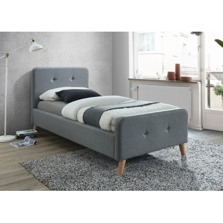 thumb Односпальная кровать Malmo 90X200 Серый 1