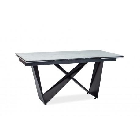 thumb Стол обеденный Cavalli II Ceramic 90x160 Белый Мармур/Черный Мат 2
