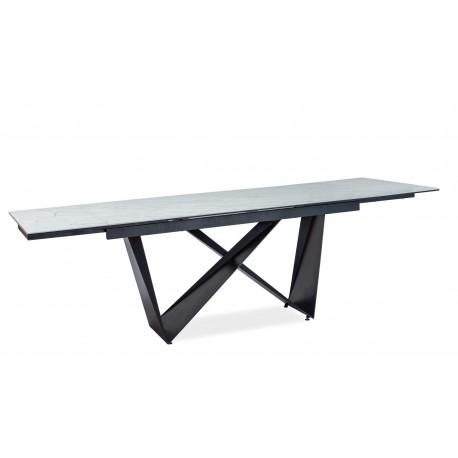 thumb Стол обеденный Cavalli II Ceramic 90x160 Белый Мармур/Черный Мат 3