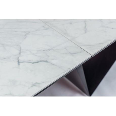 thumb Стол обеденный Cavalli II Ceramic 90x160 Белый Мармур/Черный Мат 4