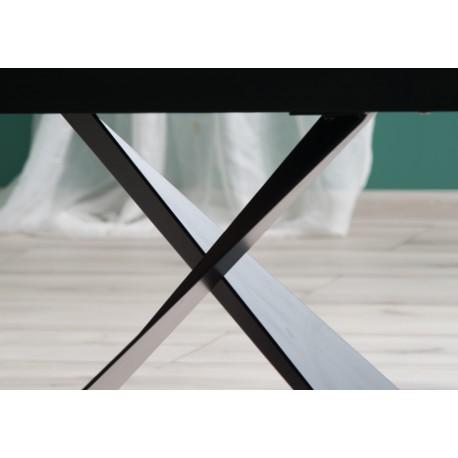 thumb Стол обеденный Cavalli II Ceramic 90x160 Белый Мармур/Черный Мат 5