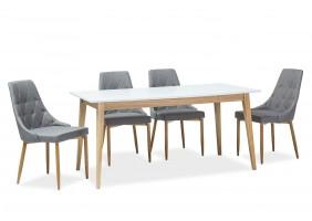 Стол обеденный Cesar 68x120 (165) Белый Мат/Дуб