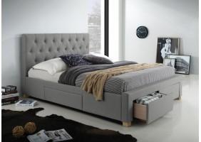 Двуспальная кровать Oslo 160X200 Серый