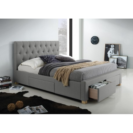 thumb Двуспальная кровать Oslo 160X200 Серый 1