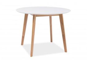 Стол обеденный Mosso II 90х90 Белый/Дуб