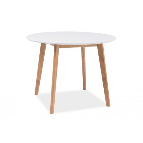 thumb Стол обеденный Mosso II 90х90 Белый/Дуб 1