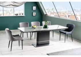 Стол обеденный Pallas Ceramic 160х90 Эфект Мармура/Черный Мат