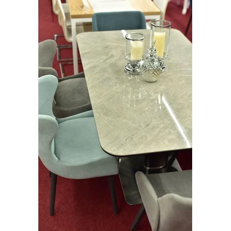 thumb Стол обеденный Pallas Ceramic 160х90 Эфект Мармура/Черный Мат 6