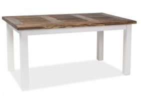 Стол обеденный Poprad 90х160 Коричневый Воск/Белый