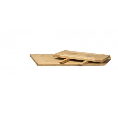 thumb Стол обеденный Poprad II 140х80 Коричневый Воск/Белый 4