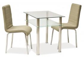 Стол обеденный Pixel 80х60 Прозрачный