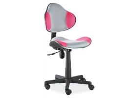 Кресло Q-G2 Серый/Розовый