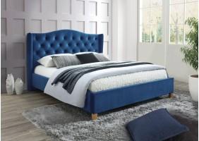 Двуспальная кровать Aspen Velvet 160X200 Синий