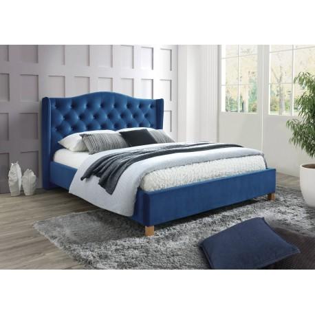 thumb Двуспальная кровать Aspen Velvet 160X200 Синий 1