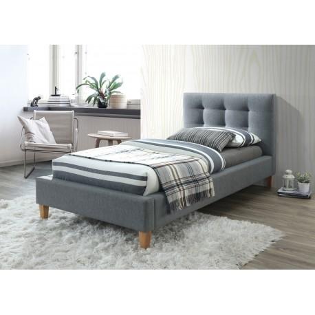 thumb Односпальная кровать Texas 90X200 Серый 1
