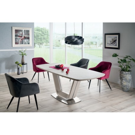 thumb Стол обеденный Armani Ceramic 90х160 Серый 1