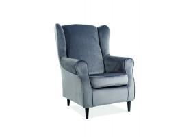Кресло Baron Velvet Серый